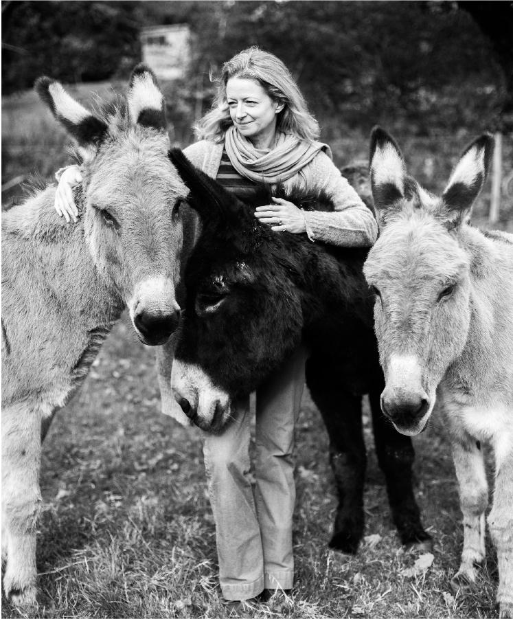 Richenda with her donkeys